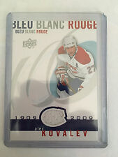 2008-09 UD Montreal Canadiens Centennial Bleu Blanc Rouge Jersey Alex Kovalev