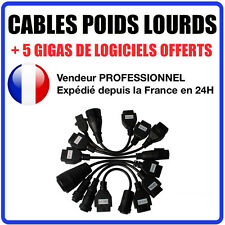 KIT 8 CABLES CAMIONS / TRUCKS compatible AUTOCOM / DELPHI   CDP+ CDP PRO DS150