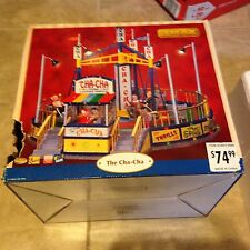 Lemax Village Collection Carnival The Cha-Cha Ride Works Spins w/ Sound in box