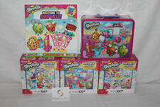 SHOPKINS STARTER BUNDLE! Lunch Box/Book/3 Different 100 Piece Puzzles! Christmas