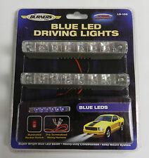 (1 pair) Optronics Blue LED Driving lights Thin line Racing Mini Light kit