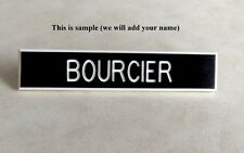 Canadian Army - Canadian Forces - Black  Plastic Military DEU Name Tag