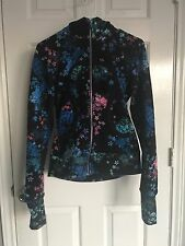 Lululemon Scuba Hoodie  6 Jacket Black Floral Power Petal multicolor