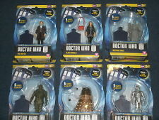 Dr Who Series 7 Action Figure Collection; 11th Doctor,Clara,Dalek,Angel,Cyberman