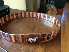 Wooden Belt with Wood Belt Buckle with Horse Made in Vietnam