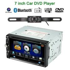 "Double 2 DIN 7"" HD Car DVD Player Bluetooth Radio Aux In USB/TF TV Rear Camera"