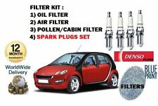 FOR SMART FORFOUR 1.5 2004-   SERVICE OIL AIR POLLEN FILTER + 4 SPARK PLUGS