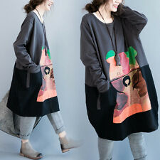 Print Embroidery Hoodie Vintga Japanese Dress Loose Long Sleeve Lolita pullover#