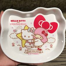 RARE SANRIO 40th anniversary  Hello Kitty Little Twin Stars Lala  melamine tray