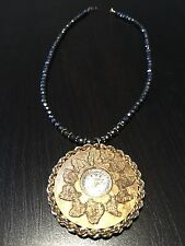 Authentic Vintage Schiaparelli pendant watch necklace