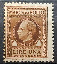 1939   Regno D'Italia marca da Bollo  1 lira  MNH*