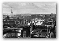 POSTER Paris Rooftops Eiffel Tower