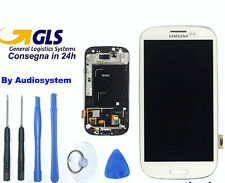 DISPLAY LCD+TOUCH SCREEN per SAMSUNG GALAXY S3 GT i9300 Vetro AMOLED+COVER FRAME