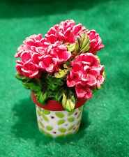 New Miniature Dollhouse Fairy Garden Potted Geraniums