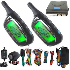 2 way car security alarm system hopping code lcd alarm remote lock or unlock