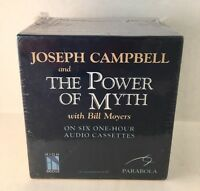 """The Power Of Myth"" By Joseph Campbell NEW (Sealed) 6 Audio Cassettes 1hr Each"