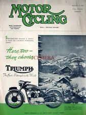 Dec 4 1952 TRIUMPH 'Speed Twin' Motor Cycle AD - Magazine Cover Print ADVERT
