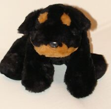 Charter Club Plush Black Brown Puppy Dog Rottweiler Stuffed Toy 12""