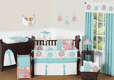 Chic Bright Luxury Girls Floral Baby Bedding Cheap Crib Set Sweet Jojo Designer