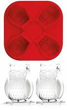 Tovolo Silicone Owl Ice Cube Tray Mold, 4 detailed Ice Candy Jello Cubes