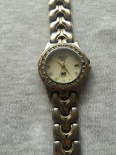 Relic Wet Mother of Pearl Dial Gold & Silver Tone Ladies Date Quartz Watch