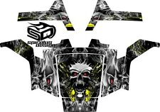 "Polaris RZR 170 Graphic kit Wrap Decal Package - ""Overheated Skull"""