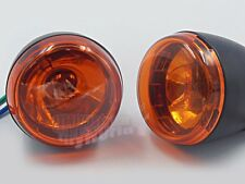 Black Front Turn Signal Light For Harley-Davidson XL883 XL1200 Sportster 92-up