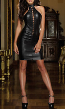 Women's Cool Coat of paint Black Sexy Club dress Sexy lingerie costume J22 L-XL