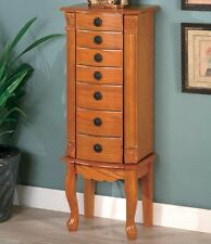 Coaster 900135 - Classic Jewelry Armoire - Oak