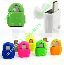 2PCS Pro Android Robot Micro USB Host OTG Adapter for Samsung Galaxy S3/4 Note2