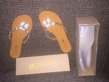 Woman's Sunny Feet New Size 7 Gold And Silver Sandals Mod Cloth