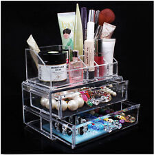Acrylic Cosmetic Organizer Drawer Makeup Case Storage Display Insert Holder Box