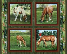 "Wild Wings Valley Crest Horse Pillow Panel 100% cotton 44"" fabric panel 36"""
