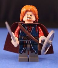 LEGO® LORD OF THE RINGS™ BOROMIR™ Minifigure +Shield Sword & Scabbard Brown Cape