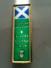 Suffragette Badge Brooch Scottish University Scotland Suffragettes