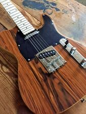 NEW Tele Style Custom Hand Made Tele Style Electric Guitar Zebrano STL 01 AF830C