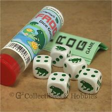 NEW Jumping Frog Family Dice Game in Tube Pocket Travel Animal Gaming D6