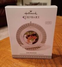 2015 HALLMARK CHRISTMAS KEEPSAKE ORNAMENTS -  OUR WEDDING PHOTOGRAPH HOLDER