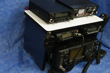 Navy Ham Radio Bench Mount Rack Stack Holder Kenwood Yaesu Icom Mike Antenna CB