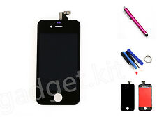 Black LCD Display  Front Touch Screen Digitizer Assembly For iPhone 4S Tools Pen