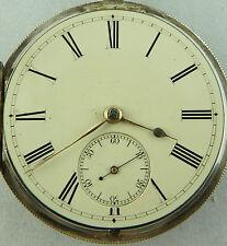Antico Argento Smalto Dial LEVA Orologio Tasca HM 1875 non funzionante