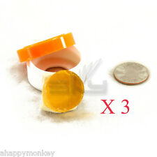 3 x New High Quality Rosin for Violin Viola Cello Round Shape Amber Color
