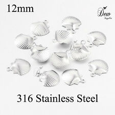 316 stainless steel shell charms 12mm jewellery pendants findings filigree