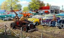 Sold as Is Old Car Junkyard print By Ken Zylla  Signed and Numberd