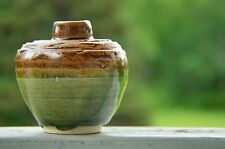 Klost Original Handmade Green and Brown Ceramics Art Pottery Vase