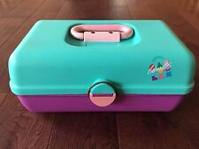 Caboodles Vintage Makeup Travel Case EXCELLENT CONDITION Pink And Teal