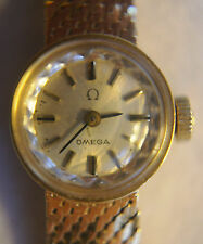 Vintage 1967 OMEGA 14K Yellow Gold Women's Manual Wind Watch Mesh Band Cal. 650