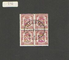 Q1376 - RUSSIA - 1945 - QUARTINA USATA  - CAT N°715