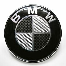 82mm BMW Black Carbon Fibre Badge Emblem e60 e61 e46 e90 f10 f11 f30 f31 e92 e93