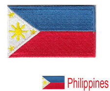 Small Philippines Flag Iron On Patch 2.5 x 1.5 inch Free Shipping